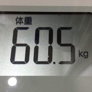 体幹リセットダイエット47日目の体重