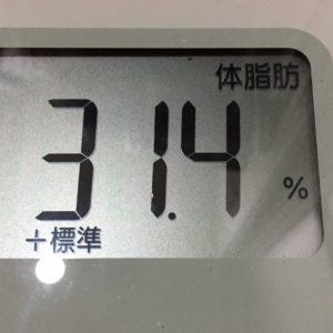 体幹リセットダイエット47日目の体脂肪
