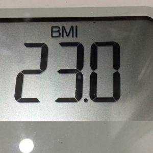 体幹リセットダイエット49日目のBMI