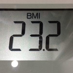体幹リセットダイエット51日目のBMI