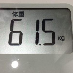 体幹リセットダイエット52日目の体重
