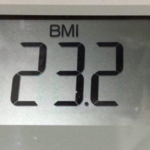体幹リセットダイエット52日目のBMI