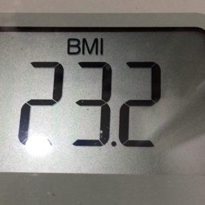 体幹リセットダイエット53日目のBMI