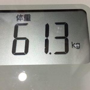 体幹リセットダイエット54日目の体重