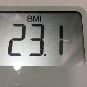 体幹リセットダイエット54日目のBMI