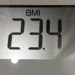 体幹リセットダイエット56日目のBMI