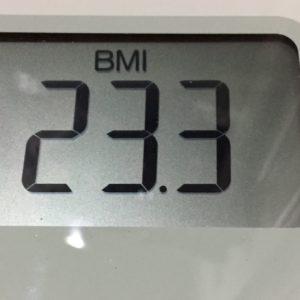 体幹リセットダイエット57日目のBMI