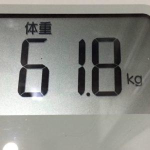 体幹リセットダイエット58日目の体重