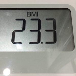 体幹リセットダイエット58日目のBMI