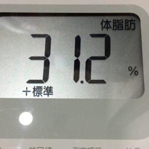 体幹リセットダイエット61日目の体脂肪