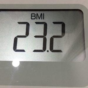 体幹リセットダイエット62日目のBMI