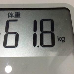 体幹リセットダイエット63日目の体重