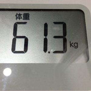 体幹リセットダイエット64日目の体重