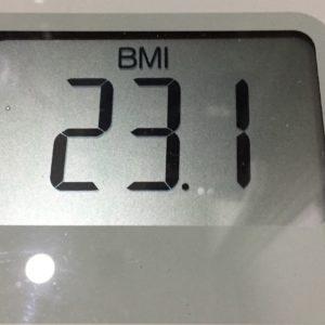 体幹リセットダイエット64日目のBMI