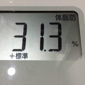 体幹リセットダイエット64日目の体脂肪