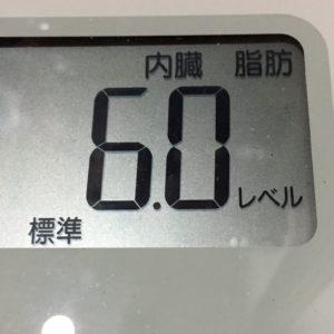 体幹リセットダイエット64日目の内臓脂肪