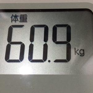 体幹リセットダイエット65日目の体重