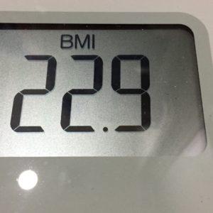 体幹リセットダイエット65日目のBMI