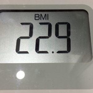 体幹リセットダイエット66日目のBMI
