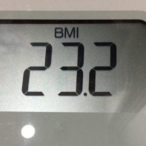 体幹リセットダイエット67日目のBMI