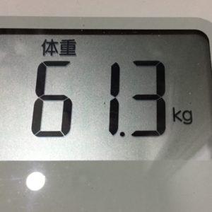 体幹リセットダイエット68日目の体重