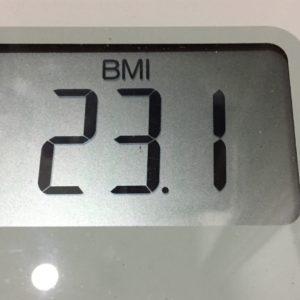 体幹リセットダイエット68日目のBMI
