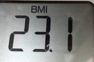 体幹リセットダイエット69日目のBMI