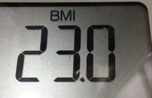 体幹リセットダイエット70日目のBMI