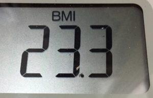 体幹リセットダイエット71日目のBMI