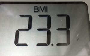 体幹リセットダイエット73日目のBMI
