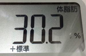 体幹リセットダイエット73日目の体脂肪
