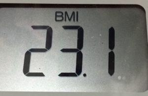 体幹リセットダイエット75日目のBMI
