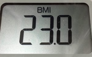 体幹リセットダイエット76日目のBMI