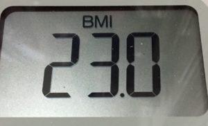 体幹リセットダイエット77日目のBMI