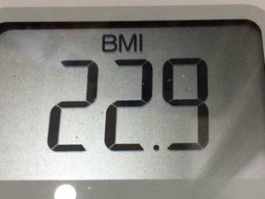 体幹リセットダイエット78日目のBMI