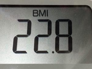 体幹リセットダイエット79日目のBMI