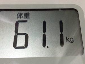 体幹リセットダイエット80日目の体重