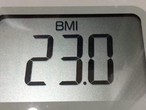 体幹リセットダイエット80日目のBMI