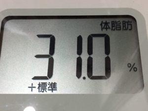 体幹リセットダイエット80日目の体脂肪