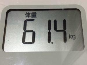 体幹リセットダイエット81日目の体重