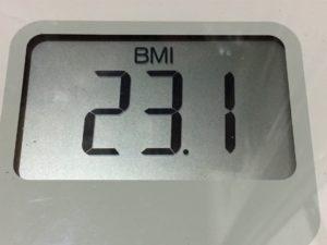 体幹リセットダイエット81日目のBMI
