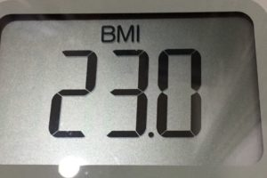 体幹リセットダイエット82日目のBMI