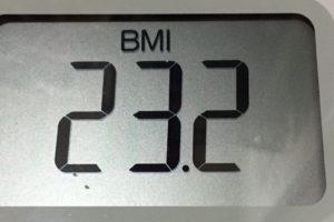 体幹リセットダイエット83日目のBMI