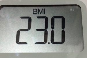 体幹リセットダイエット84日目のBMI