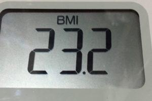 体幹リセットダイエット85日目のBMI