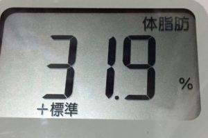 体幹リセットダイエット85日目の体脂肪