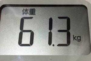 体幹リセットダイエット86日目の体重