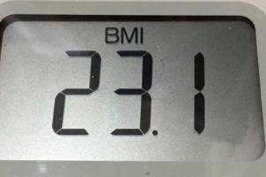 体幹リセットダイエット86日目のBMI