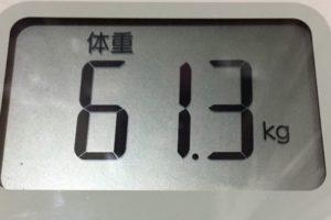 体幹リセットダイエット87日目の体重