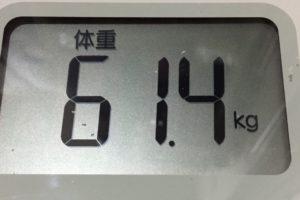 体幹リセットダイエット88日目の体重